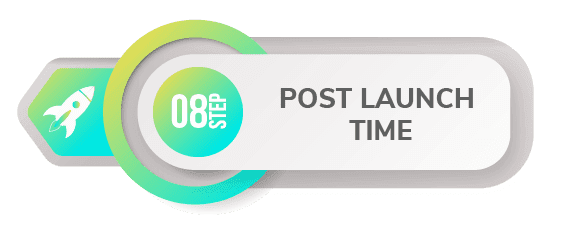 8 step create app post launch time