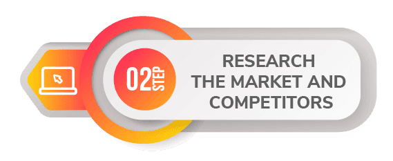 2 step create app research market and competitor